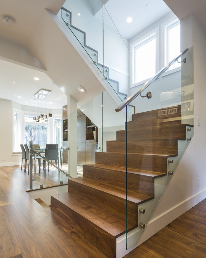 Walnut stairs and floor
