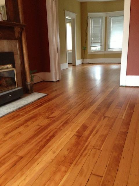 Vintage fir floor